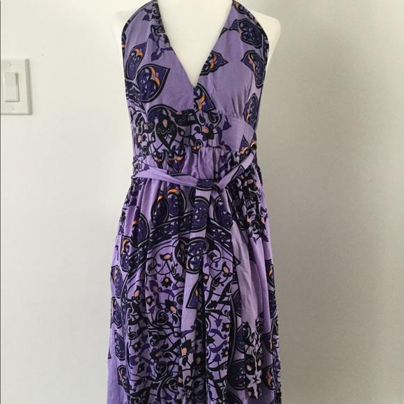 Nieves Lavi Dresses & Skirts - Nieves Lavi silk jersey halter dress